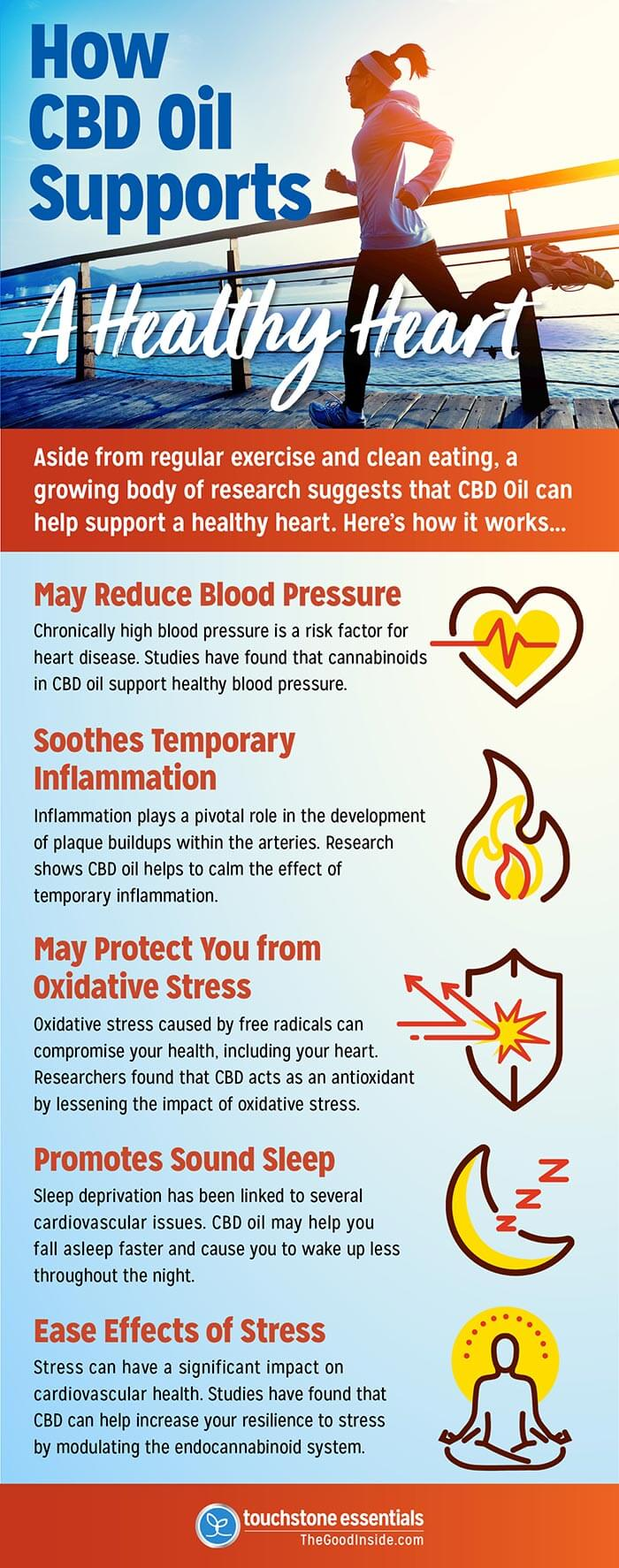 How CBD Oil Supports a Healthy Heart Infographic
